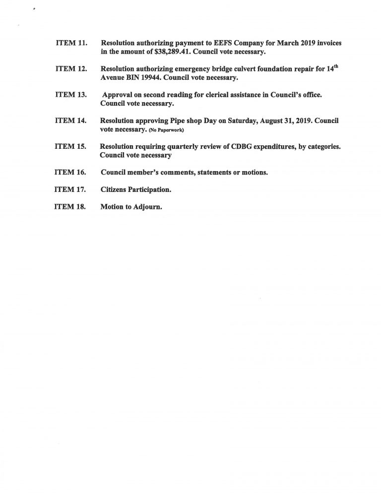 June-4-2019 City Council Agenda Page 2