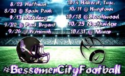 "Zow up for ""challenge"" of Bessemer City High School football"