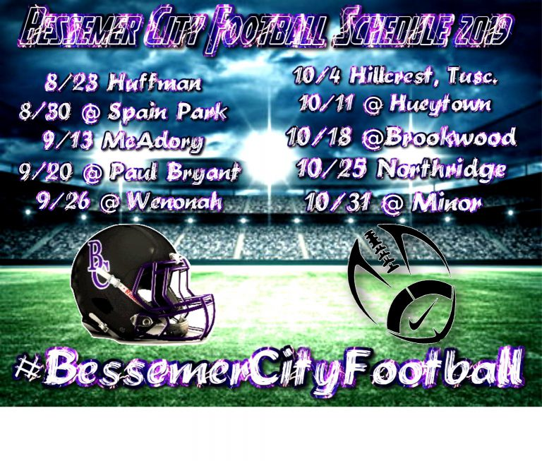 The Bessemer City High School Football Purple Tigers open the season at home against Huffman on August 23.