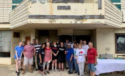 Volunteers tidy up Historic Lincoln Theater