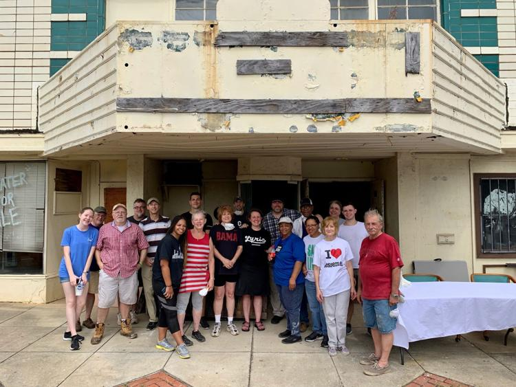Volunteers with the Bessemer Historic Society lend a helping hand.